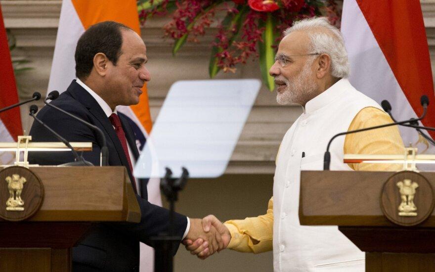Abdelis-Fattahas el-Sissis ir Narendra Modis