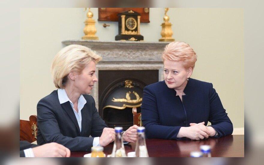 Ursula von der Leyen and Dalia Grybauskaitė