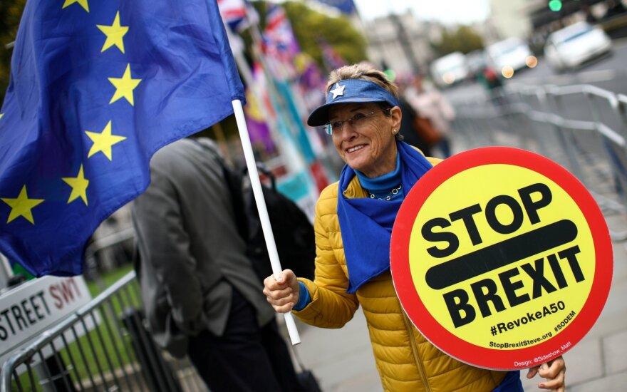 """Šaltiniai: ES valstybės pirmadienį aptars lankstų """"Brexit"""" atidėjimo terminą"""