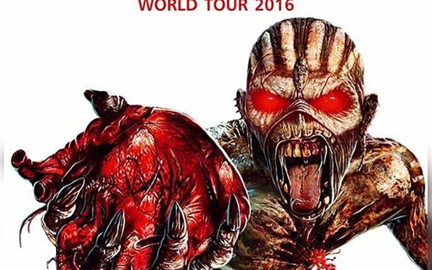 New Iron Maiden poster released in Lithuania that won't scare children