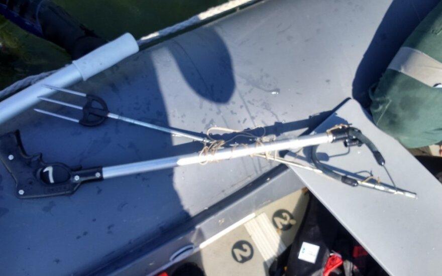 Žvejo povandenininko naudota įranga