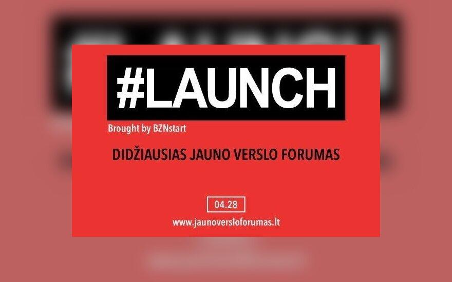 """Forume """"#LAUNCH"""" – praktikos dozė, kaip užauginti jauną verslą"""