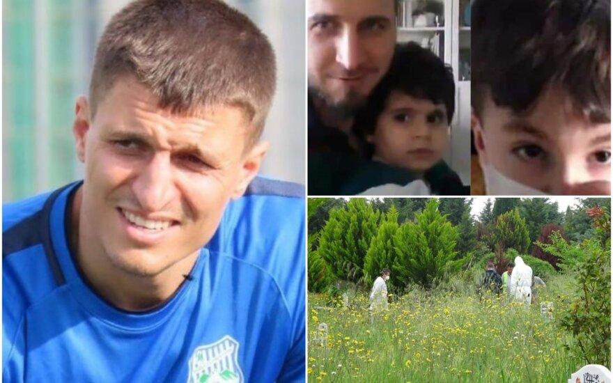 """Cevheras Toktas su sūnumi / FOTO: """"Twitter"""""""
