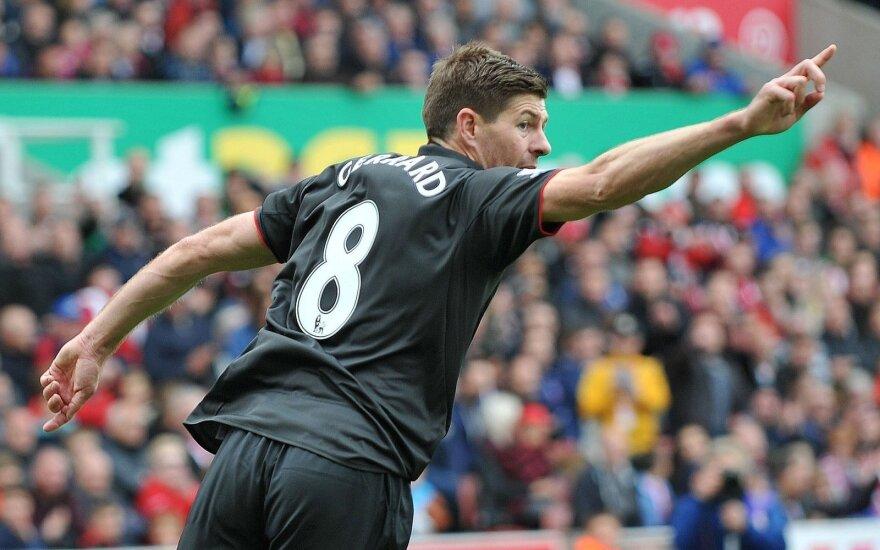 Stevenas Gerrardas sužaidė paskutines rungtynes Liverpulio klube
