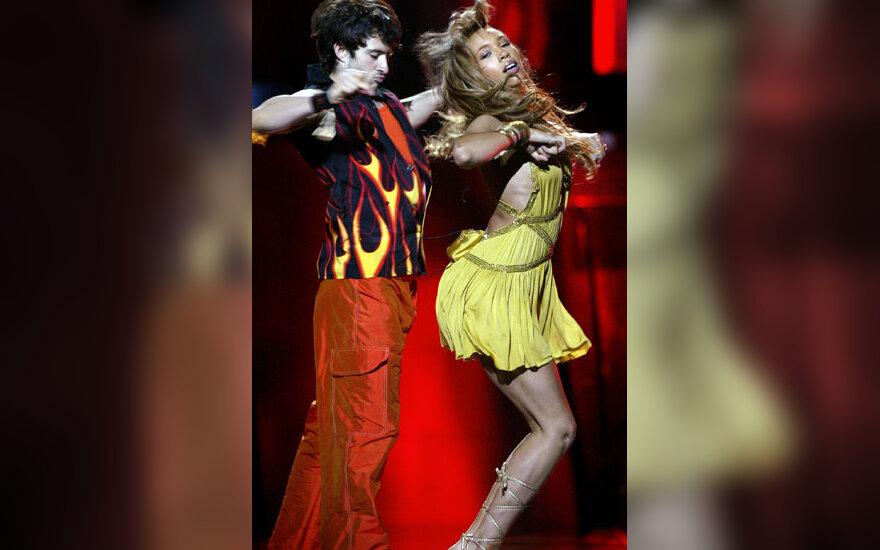 """""""Eurovizija"""" 2005 m. Dainininkė iš Didžiosios Britanijos Javine Hylton"""
