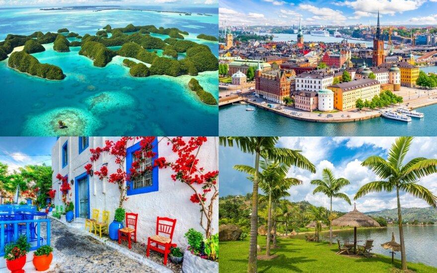 Paskelbtos geriausios kryptys turistinėms kelionėms 2021 metais