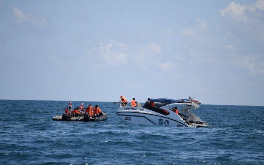 Tailando gelbėtojai prie Puketo salos