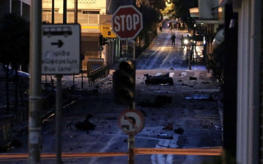 Prie Graikijos centrinio banko sprogo užminuotas automobilis