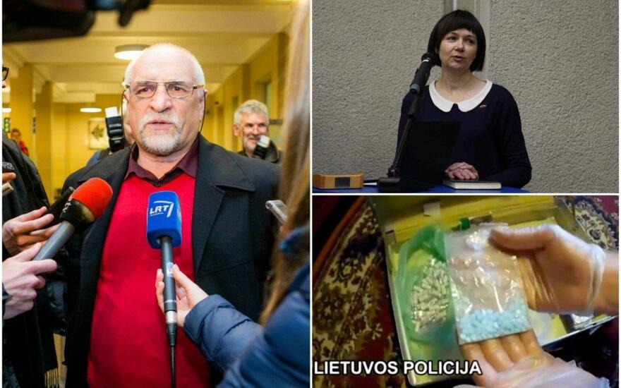 Bronislavas Vyšniauskas ir Nina Puteikienė susikirto dėl per kratas rastų draudžiamų medžiagų
