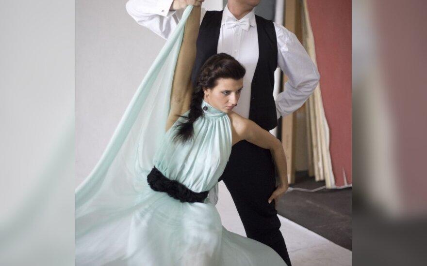 Andrius Šedžius su šokių partnere