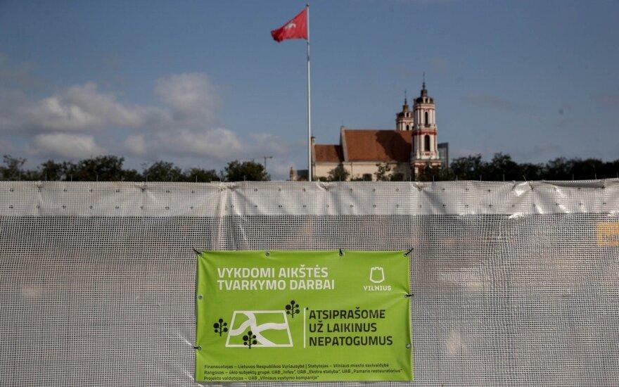 Seimo nariai pasiskundė dėl Vyčio paminklo Lukiškių aikštėje