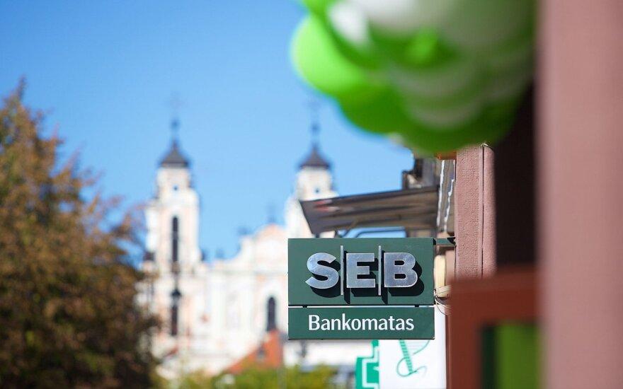 SEB pajamos Lietuvoje pernai augo iki 204,4 mln. eurų