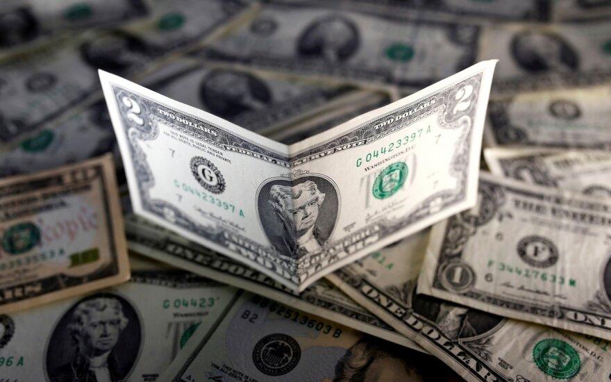 Geopolitinė rizika smukdo JAV dolerio kursą