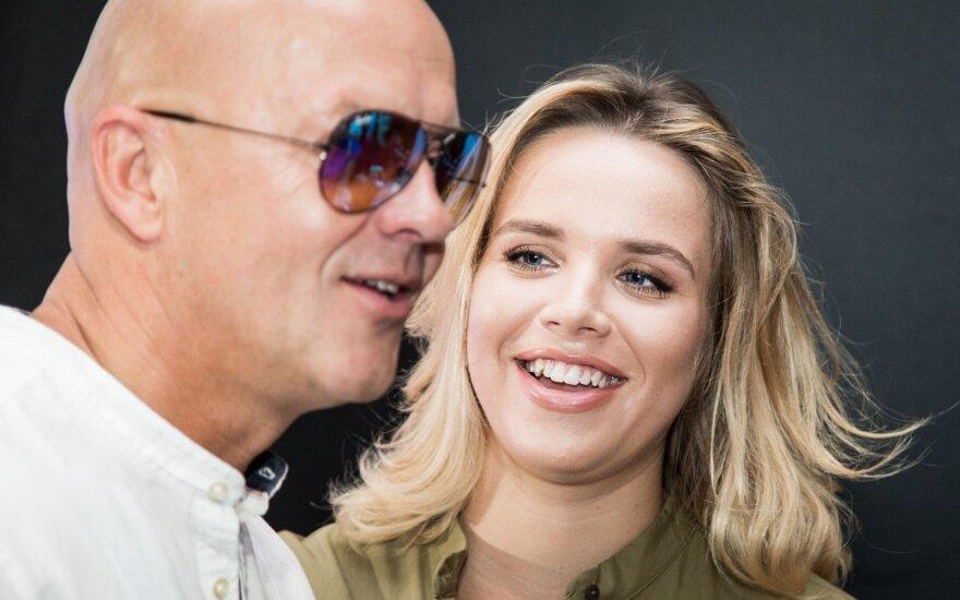 Ramūnas Rudokas su žmona Justina