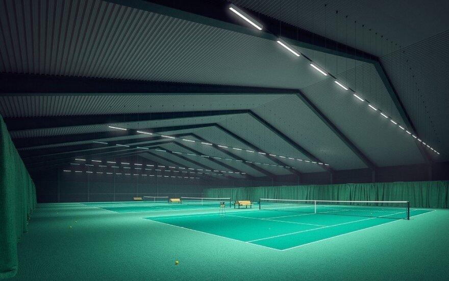 Teniso arenos statybos Kaune