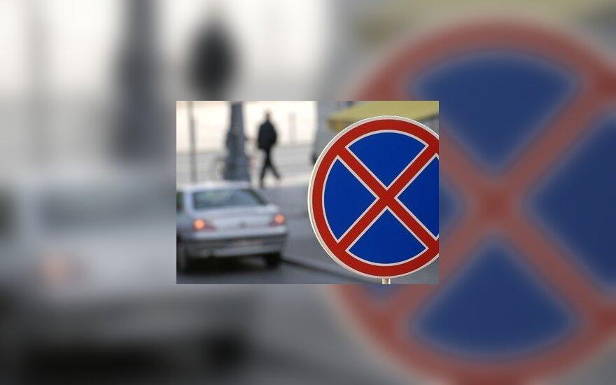 Karklėje poilsiaujantys vairuotojai ignoruoja kelio ženklus