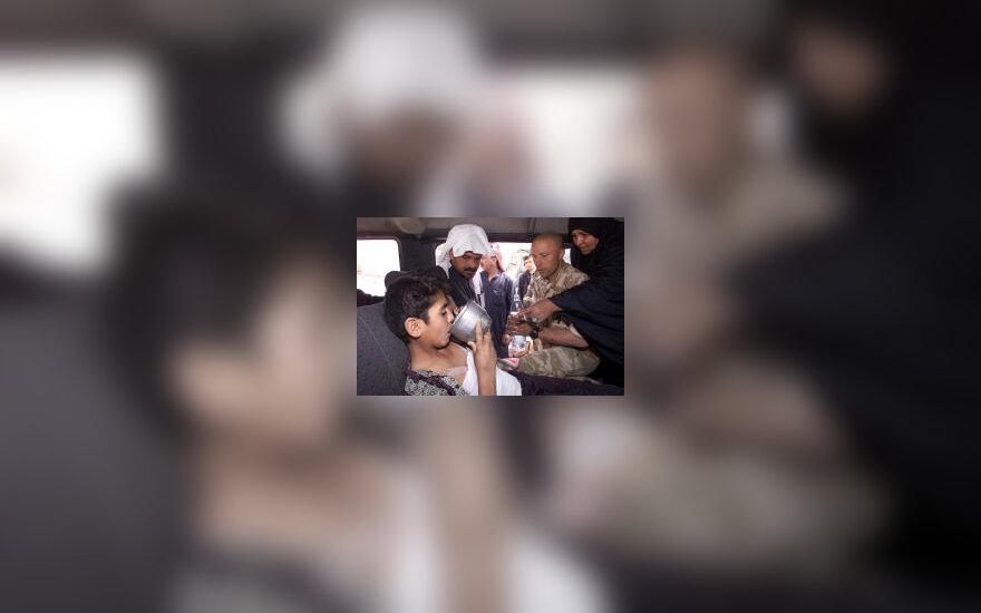 Sužeistas irakietis berniukas