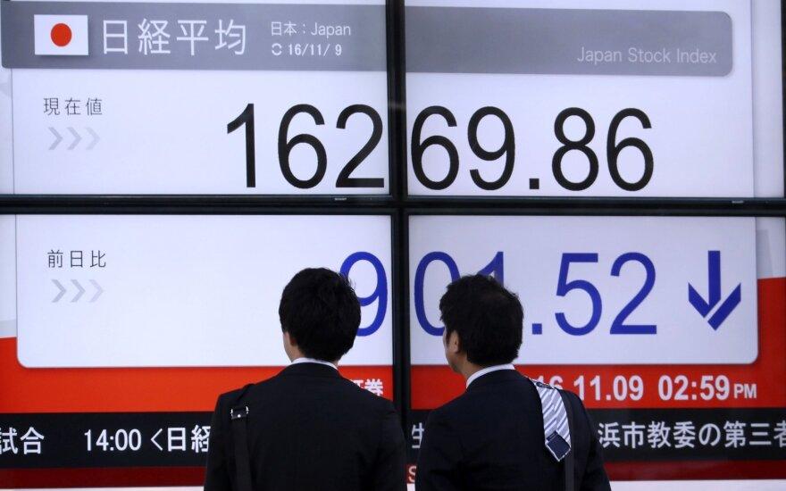 Tokijo biržos nutraukė keturias dienas trukusį pakilimą
