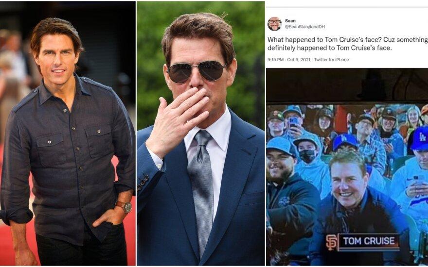 Tomą Cruise'ą aptarinėja internautai / Foto: Vida Press, Twitter