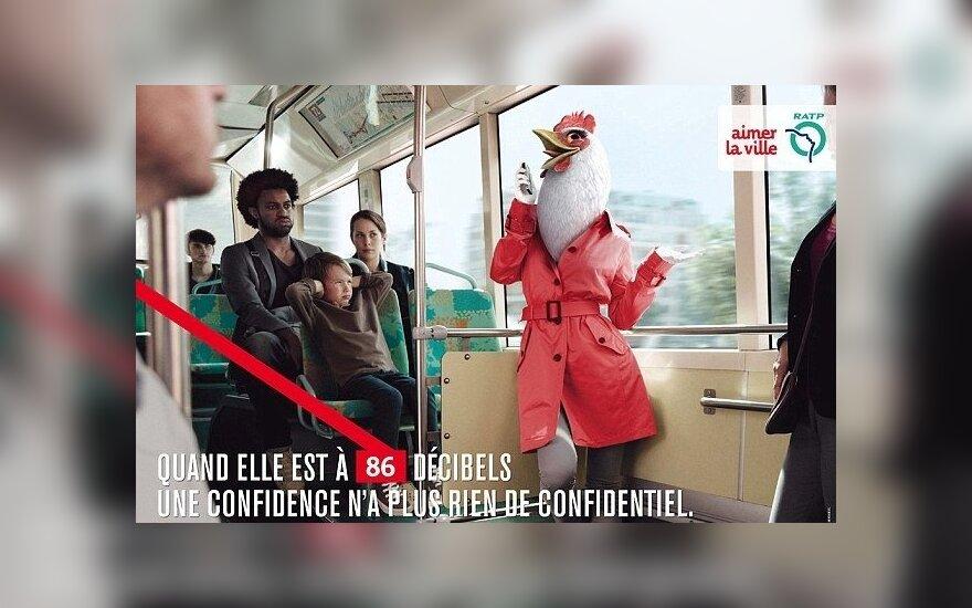 Socialinė reklama Paryžiuje