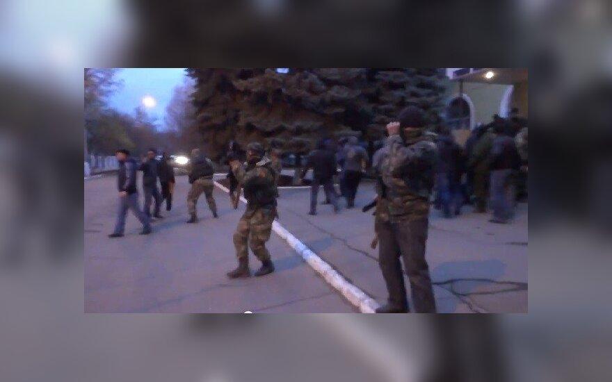 Pasirodė milicijos šturmo Kramatorske vaizdo įrašas
