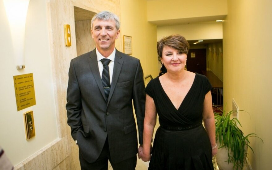 Algimantas Šalna su žmona Neringa