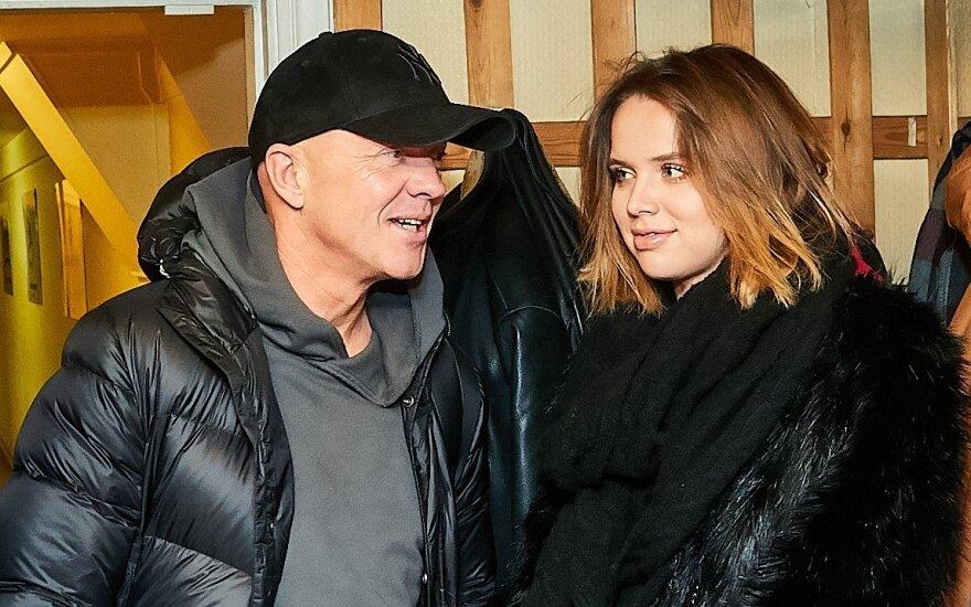 Ramūnas Rudokas su žmona Justina (Ruslano Kondratjevo nuotrauka)