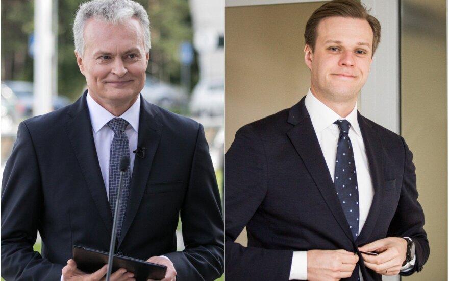 Gitanas Nausėda and Gabrielius Landsbergis