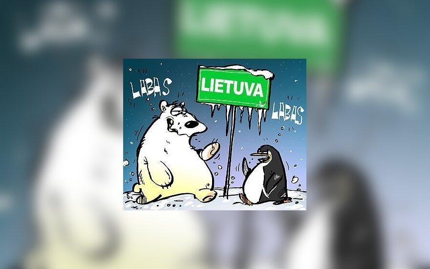 Šaltis Lietuvoje - karikatūra