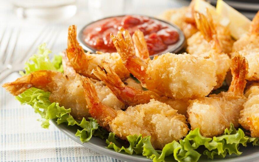 Beprotiškai skanios traškios krevetės