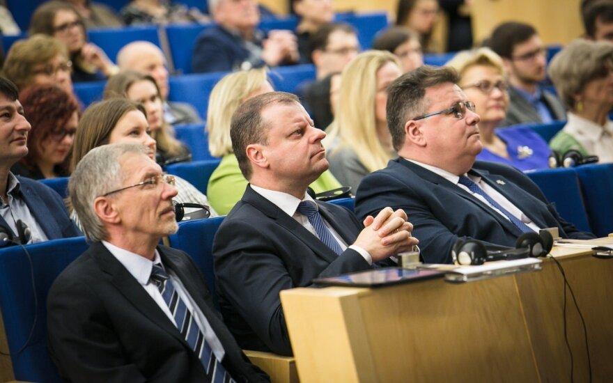 Gediminas Kirkilas, Saulius Skverenelis, Linas Linkevičius