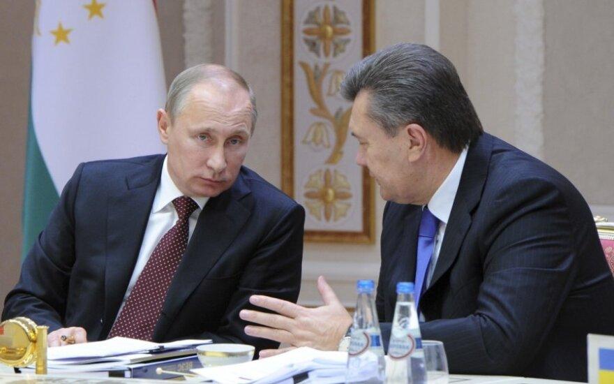Vladimiras Putinas ir Viktoras Janukovyčius