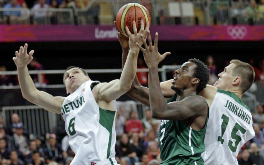 Lietuvos krepšinio rinktinė žengė antrą žingsnį Olimpiadoje
