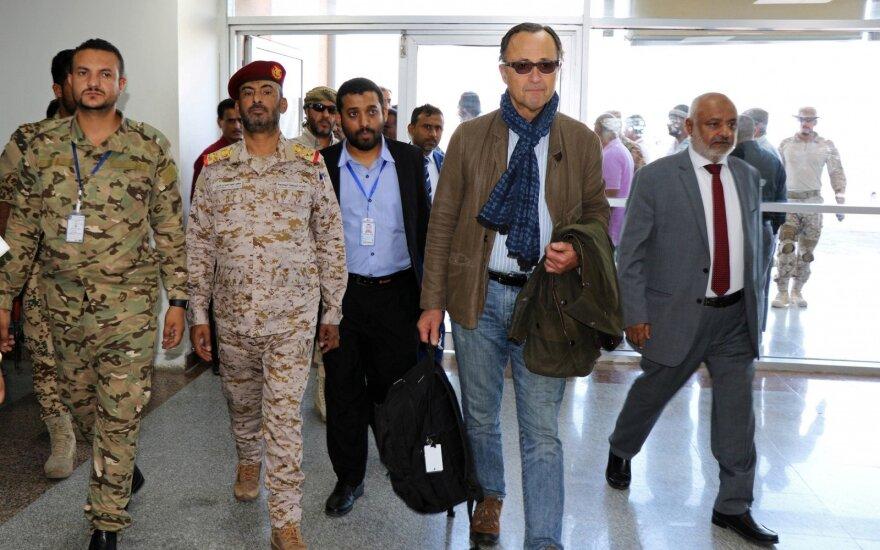 Jungtinių Tautų paliaubų stebėtojai atvyko į Jemeną