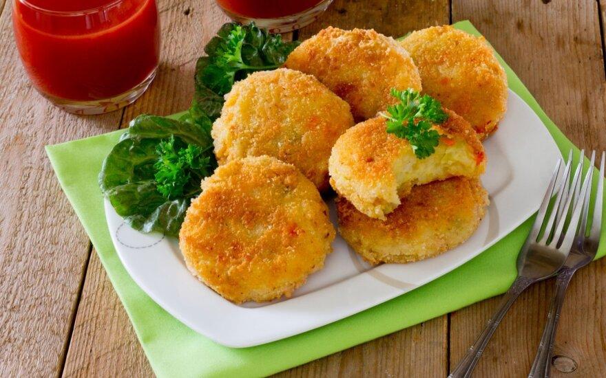Bulvių košės kotletukai