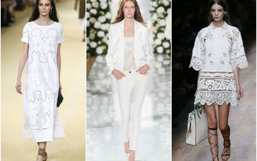 Mados tendencijos šiai vasarai: pasimėgaukite baltumu