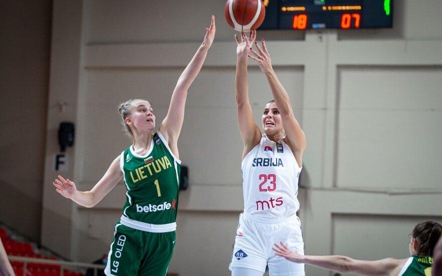 """FIBA """"Challenger"""" merginų turnyre Lietuvos 18-metės nusileido serbėms"""