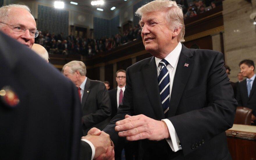 Pirmoji D. Trumpo kalba JAV Kongrese