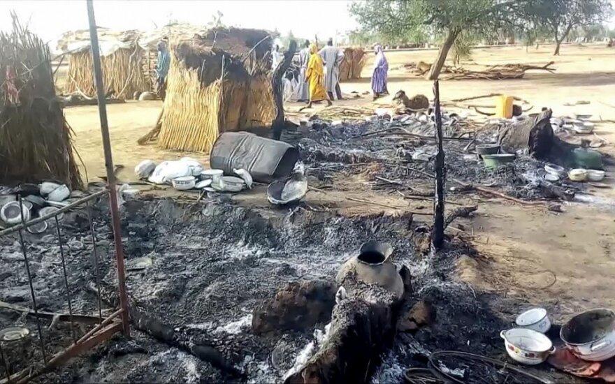 """Kaimas Nigerijoje po """"Boko Haram"""" išpuolio"""