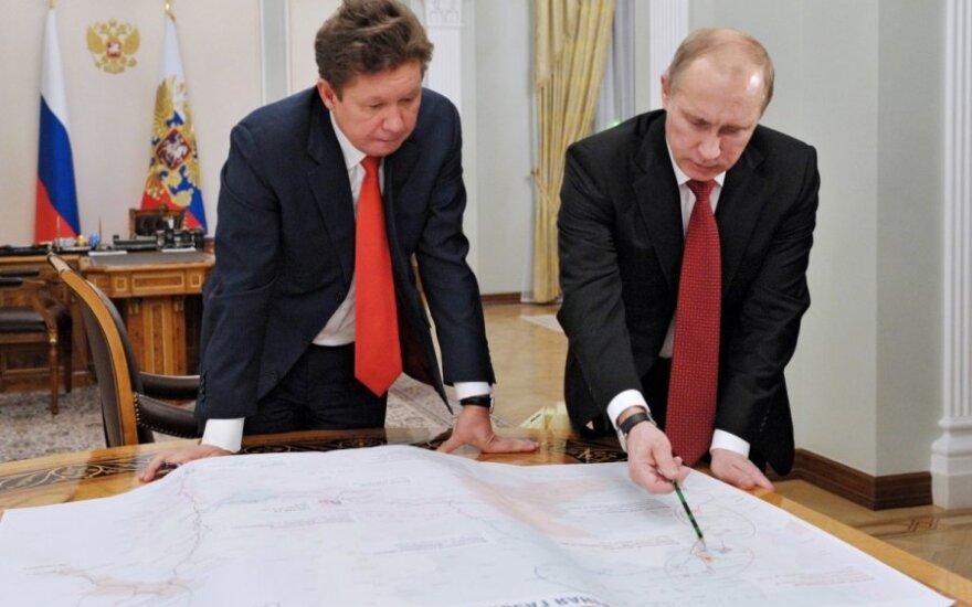 Aleksejus Mileris ir Vladimiras Putinas