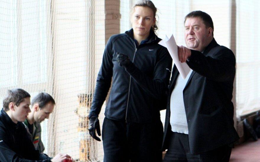 Austra Skujytė ir treneris Aleksas Stanislovaitis