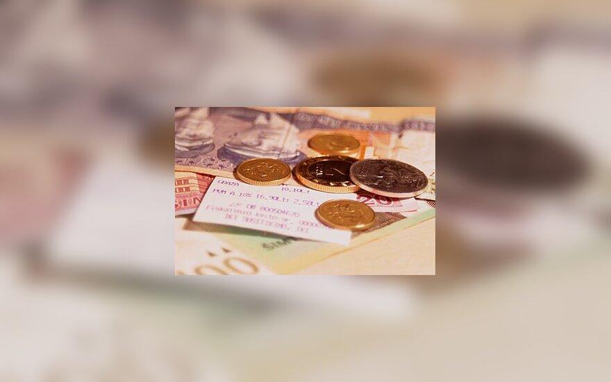 Litai, pinigai, centai, verslas