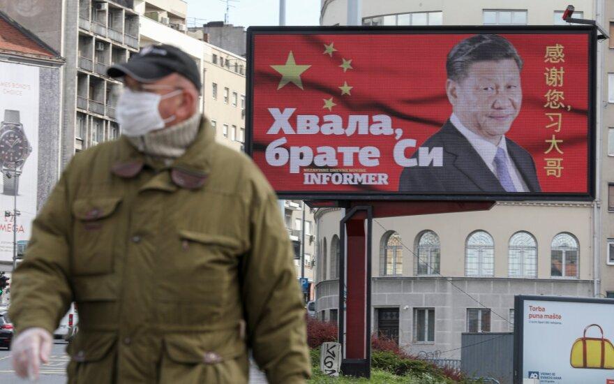 Stendas Belgrade dėkoja Kinijai už pagalbą
