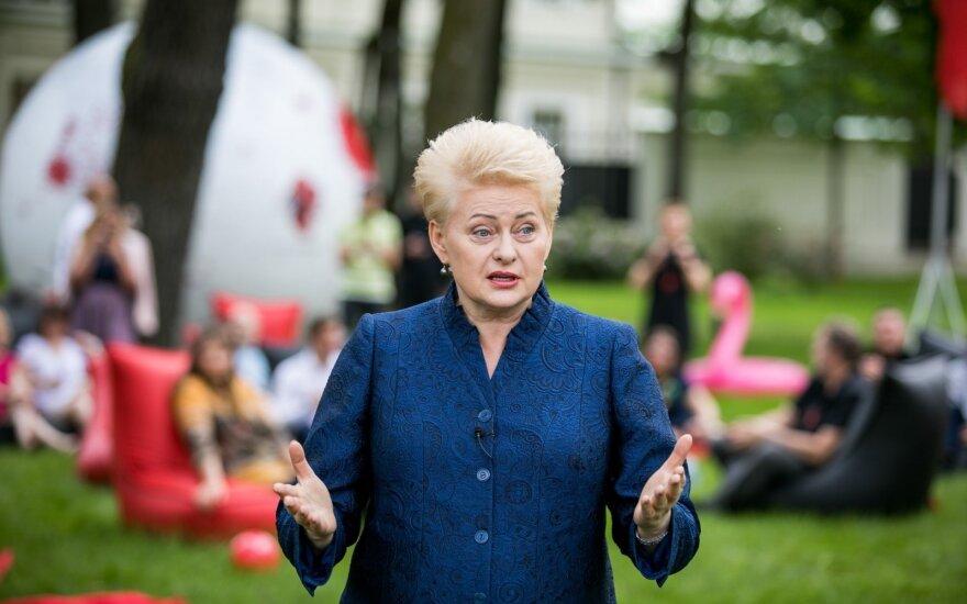 Grybauskaitė: matome pastangas ir reformas daryti dėl reformų, o ne dėl rezultato