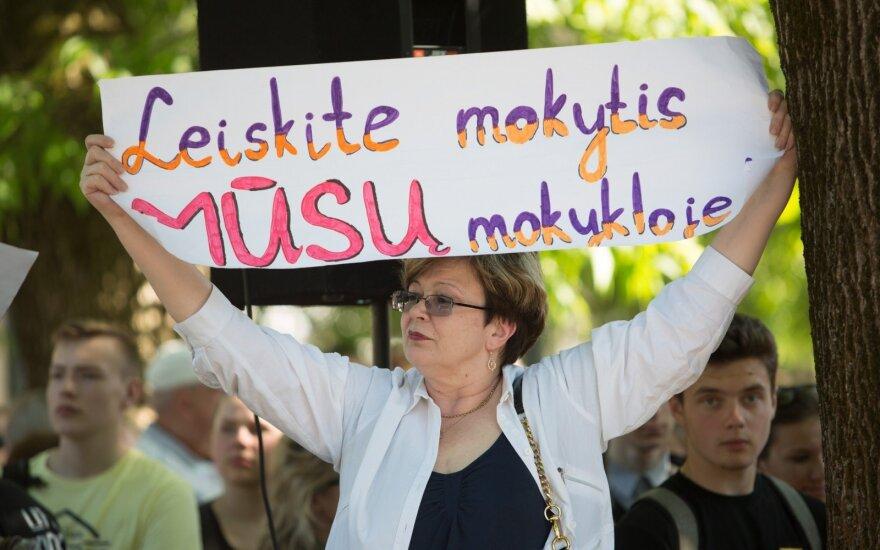 Ethnic minority schools staging protest in Vilnius