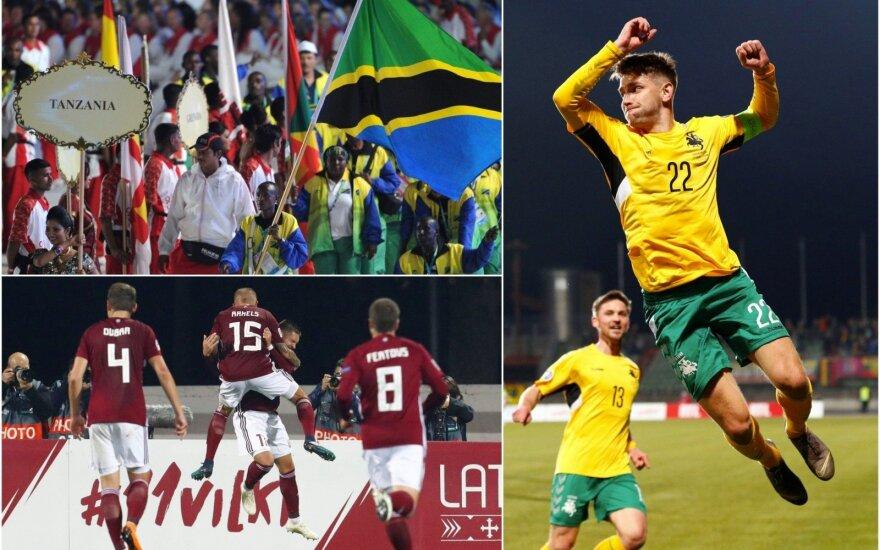 Lietuvos rinktinė FIFA reitinge aplenkė Latviją, bet į priekį praleido Tanzaniją