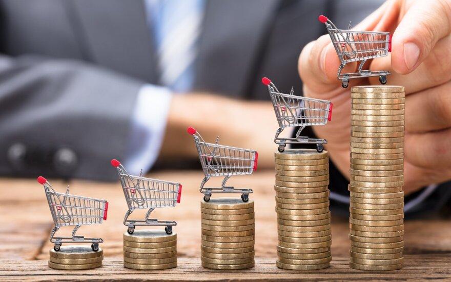 Vidutinė metinė infliacija kovą – 2,3 proc., augo eksportas