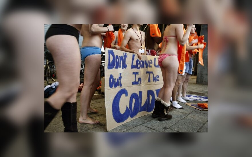 JAV gamtosaugininkų aktyvistų protesto akcija Kopenhagoje