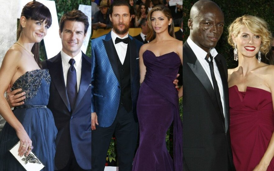 K. Holmes, T. Cruise'as, M. McConaughey, C. Alves, Seal'as, H. Klum