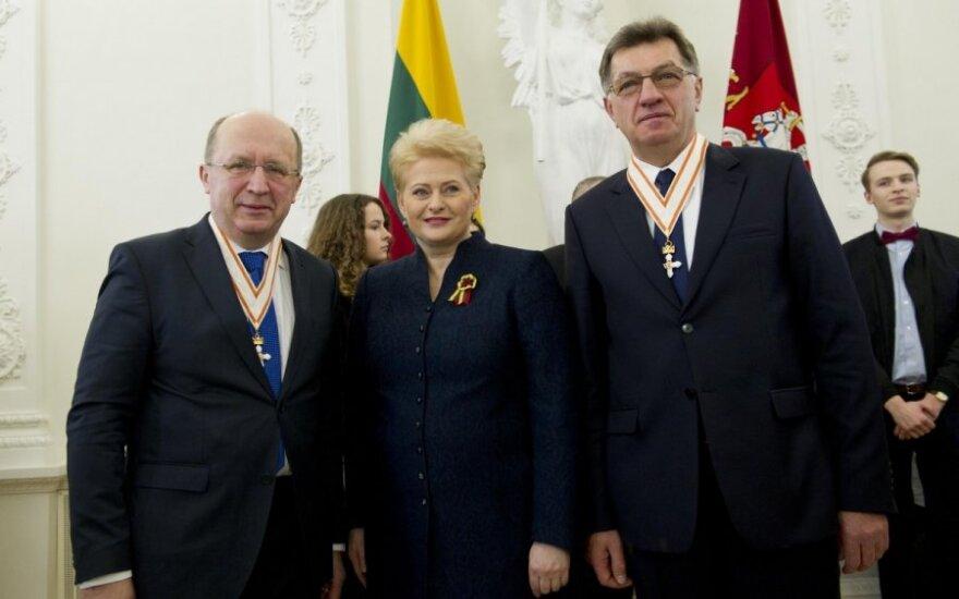 Andrius Kubilius, Dalia Grybauskaitė and Algirdas Butkevičius
